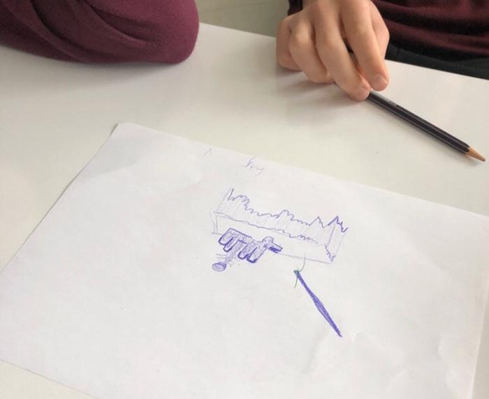 Black Box drawing workshop at NATO's SHAPE Military Base, Mons